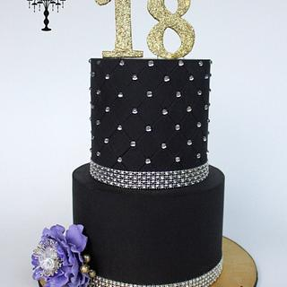 Black and Bling for a 18th birthday