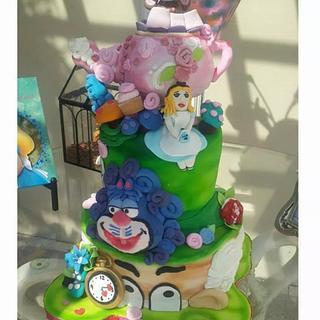 mad hatter alice in wonderland cake  - Cake by Sasha Salinas