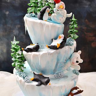 Funny Winter Cake