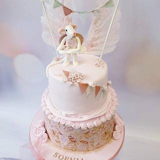 Lovely sweet girls birthday cake