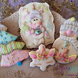 Unicorn Christmas Cookies