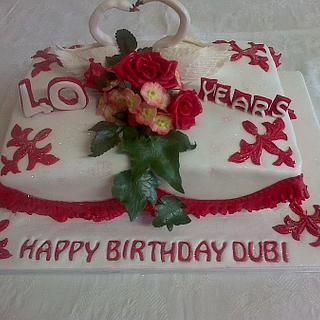 Birthday Cake to match Hydrangea Anniversary cake