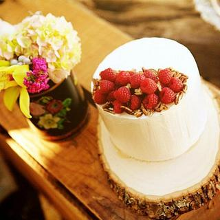 Rustic Raspberry Cake