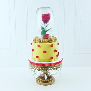 Simple Beauty and the Beast Cake