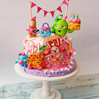 shopkins with birthday cake