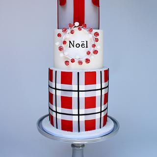 """""""Tartan de Noël"""" - Cake by Very Unique Cakes by Veronique"""
