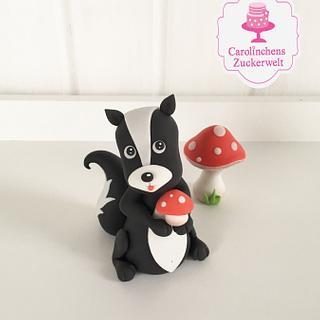 🍄 Little skunk 🍄 - Cake by Carolinchens Zuckerwelt