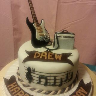 Guitar cake for my son-in-law