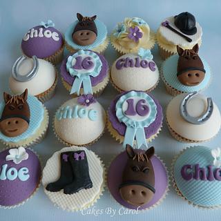 Horse theme cupcakes