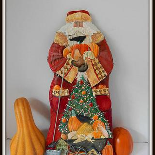 Harvest Santa Gingerbread Cookie