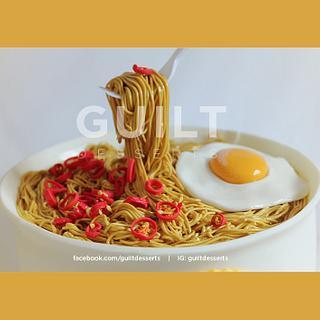 Flying Fork - Noodle cake
