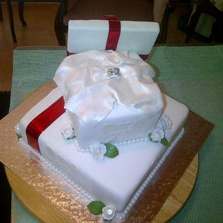 Engagement cake of my daugter's  friend