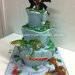 Dragon trainer cake - Cake by Zucchero e polvere di stelle