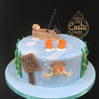 Fisherman & swimmer cake  - Cake by Costa Cupcake Company