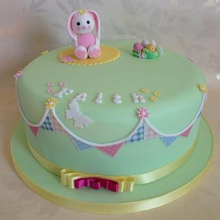 Faiths first birthday  - Cake by sarah