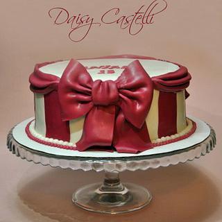 RIBBON CAKE!