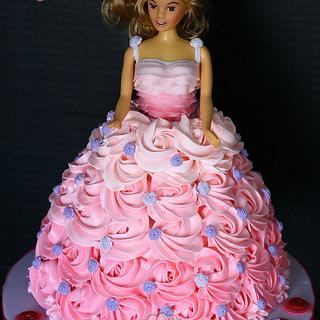Ombre Barbie Cake