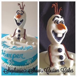 Olaf - Cake by Stephanie Shaw
