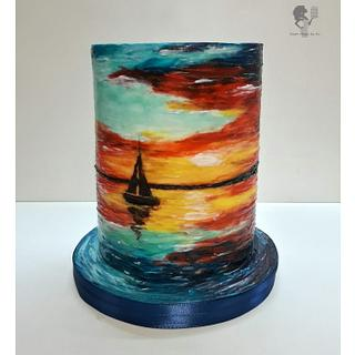 Hand-Painted Cake