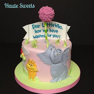 Horton & Lorax baby shower cake