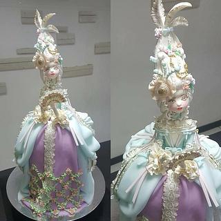 Mini Marie Antoinette Doll Cake