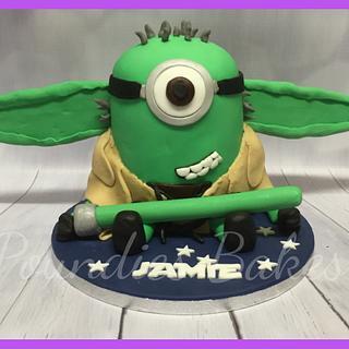 Minion Yoda am I - Cake by Poundies Bakes