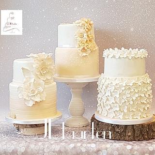 wedding cake trio - Cake by Judith-JEtaarten