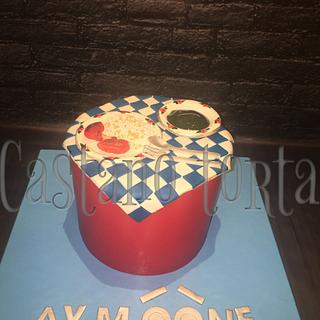 Egyptian food birthday cake