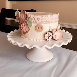 shabby chic vintage bridal shower cake