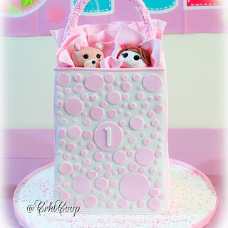 Gift Bag Birthday Cake - Cake by CrktCoop
