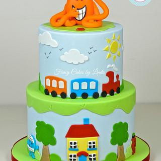 Mr Men Children's Novelty Cake