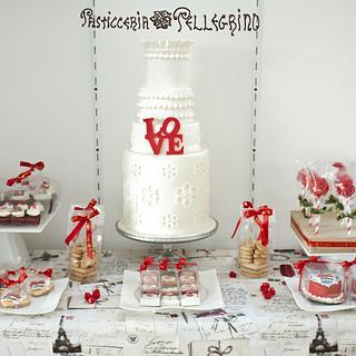 Valentine's Sweet table <3 - Cake by  Viviana Pellegrino