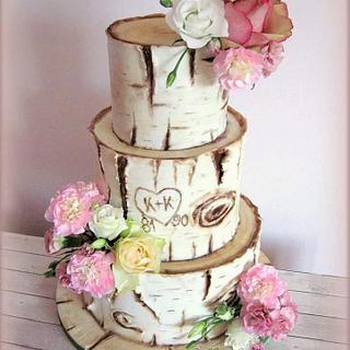 Birch tree cake