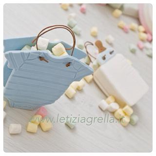 Baby shower candy favour sugar bags