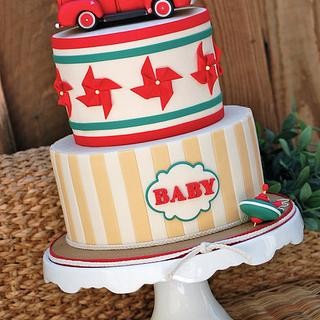 Vintage Toy Baby Shower - Cake by Lesley Wright