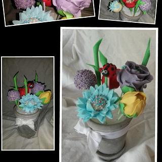 Cake pops flowers! - Cake by Jenny Edman