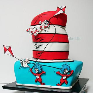Thing 1 & 2 Baby shower cake - Cake by The Cake Life