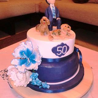 50th Birthday - Cake by MariaDelleTorte