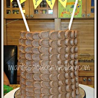double barrel petal cake