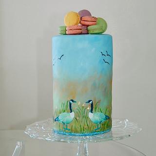 Canada Goose Cake - Cake by Leyda Vakarelov