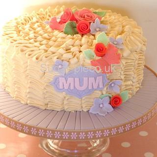 Caramel Ruffle 'mum' cake