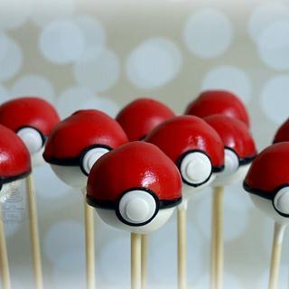 Pokeball Cake Pops :)