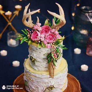 Boho Birch Cake