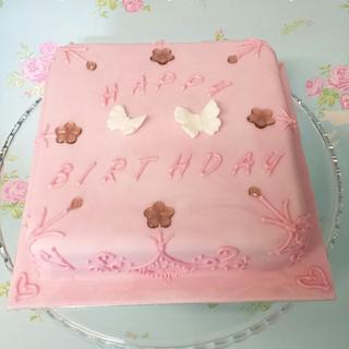 Pink Bubblegum flavoured cake - Cake by Tasha's Custom Cakes
