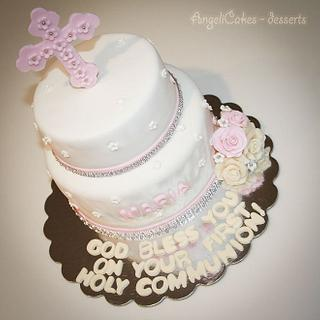 First Communion  - Cake by Angelica Galindo