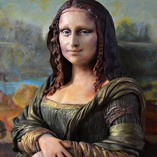 Mona Lisa Sculpted Cake - Sugar Art Museum