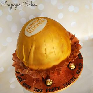 Fererro Rocher - Cake by Zoepop