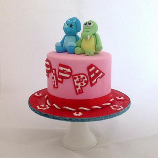 Pippa's favourite toys. - Cake by Fantail Cakes
