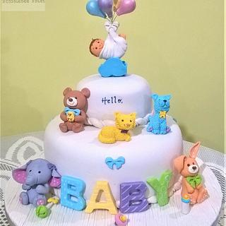 Floating Bundle of Joy Baby Shower Cake