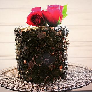 Antique look cake